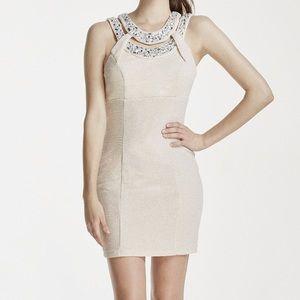 Trixxi Beige sparkly dress size 9